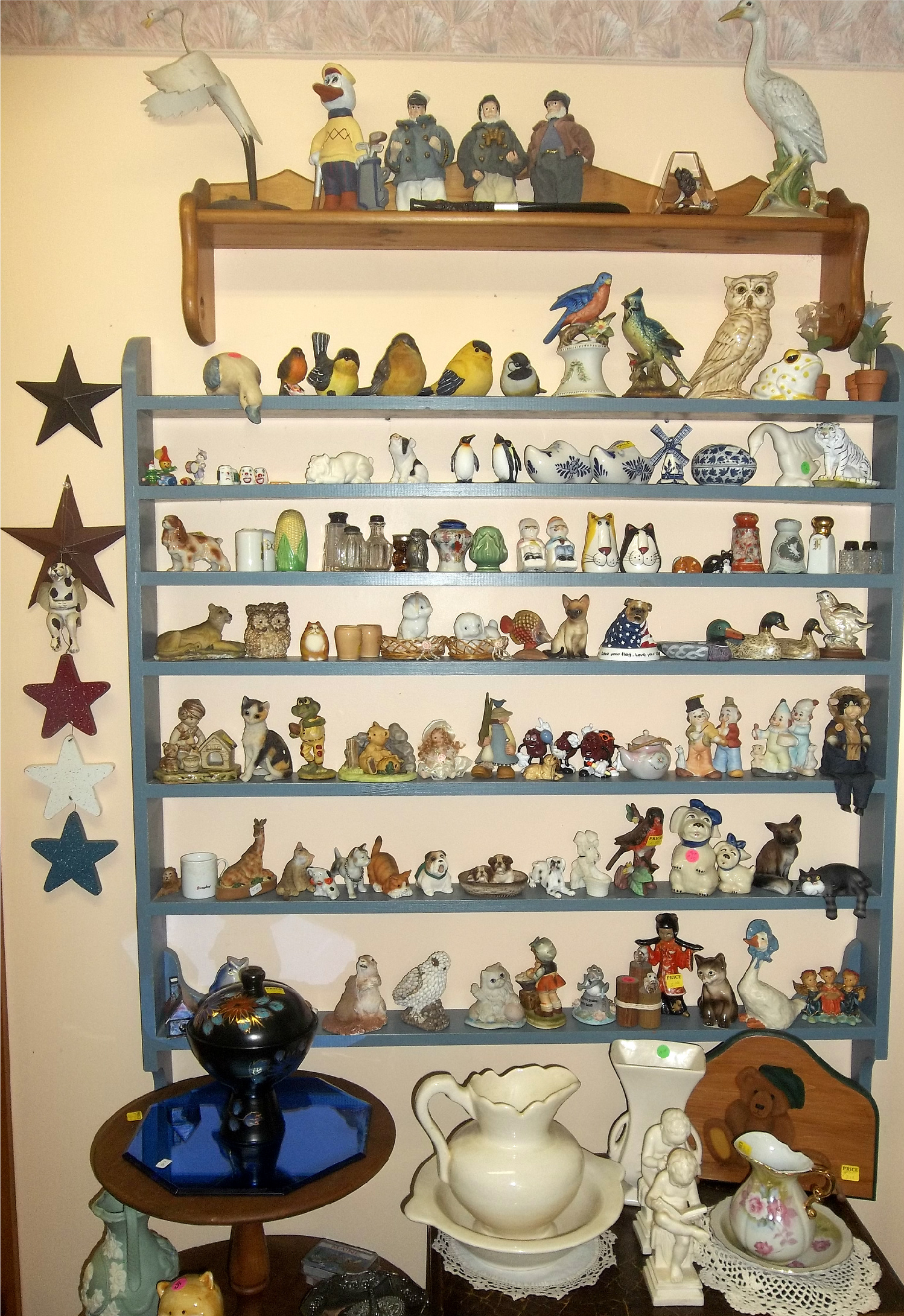 collectibles at New To You Shop located at Ellies Daylilies in Unity Maine