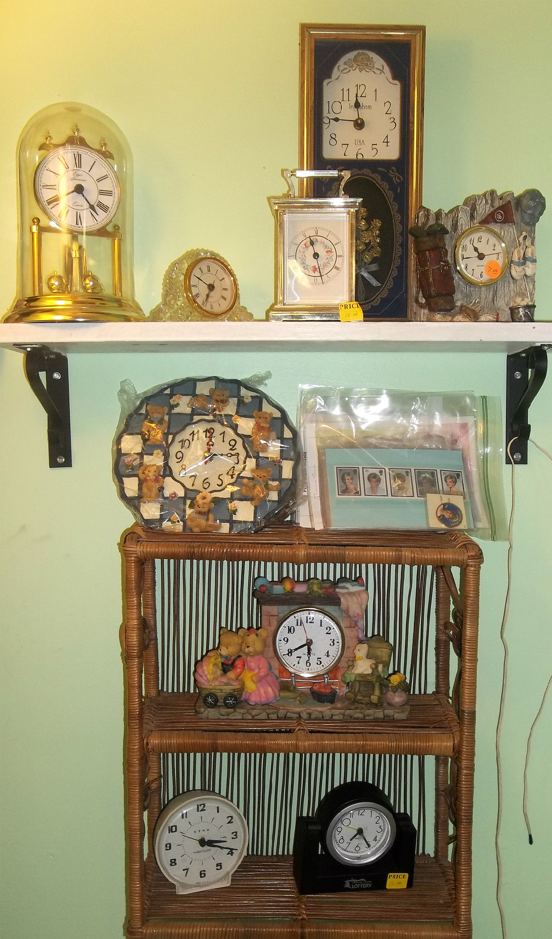 collectibles from New To You Shop located at Ellies Daylilies in Unity Maine
