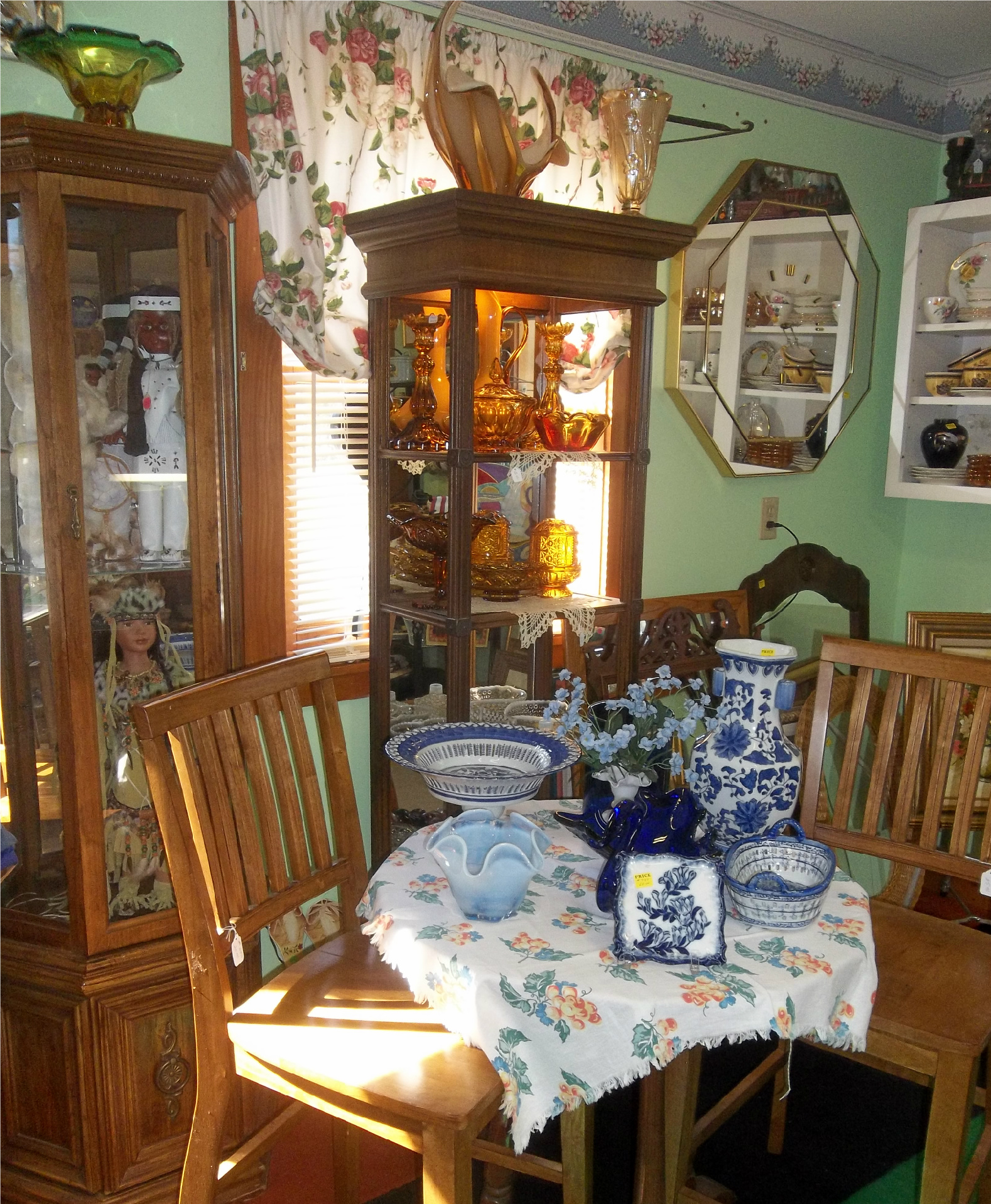 collectibles & home decor at the New To You Shop located at Ellies Daylilies in Unity Maine